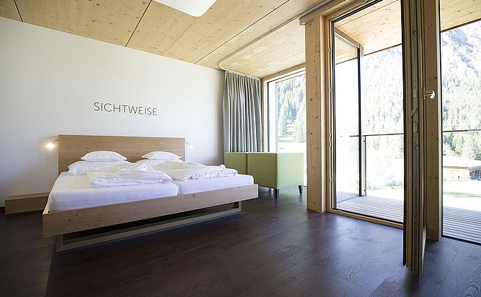 Doppelzimmer Klarheit Bergblick